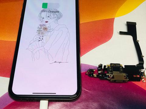 iphone11 pro ドック修理 充電不良 アイフォン バッテリー交換 画面修理 zoom 山梨 甲府昭和