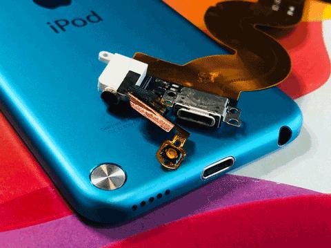 ipod touch ドックコネクタ交換 充電不良 アイポッド 画面修理 バッテリー交換 水没 zoom 山梨 甲府昭和